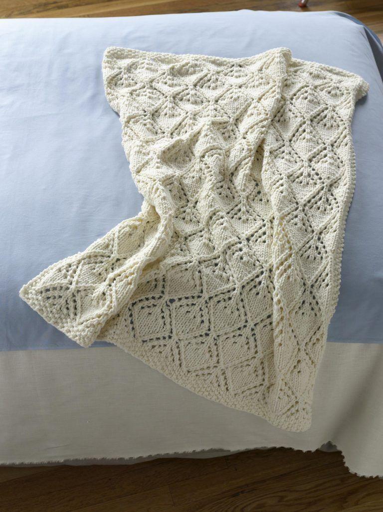 Bulky Yarn Baby Blanket Knitting Patterns | Knitting patterns, Yarns ...