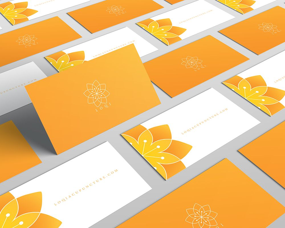 Loqi acupuncture logo design branding by elitivia for Acupuncture business cards