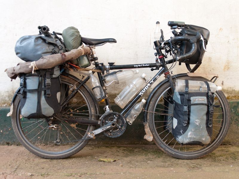 Fully Loaded For Bicycle Touring Touring Bicycles Surly Bike