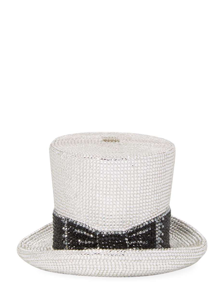 0cc166347a69 Judith Leiber Top Hat Clutch Bag Clutch bag Chain shoulder strap Interior  compartment Embellished throughout Turn lock closure Measurements: Body  length 6