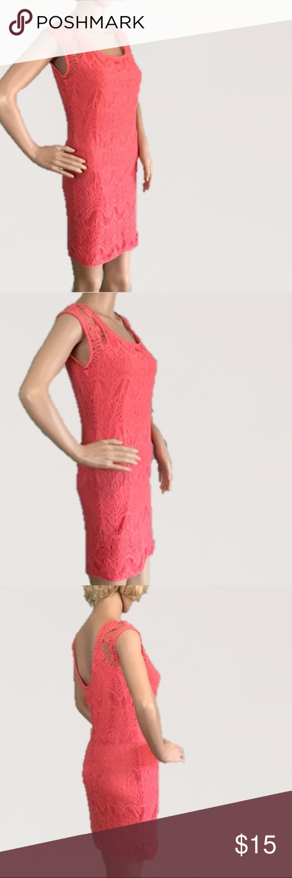 Pink dress forever 21  Coral Crochet Sheath cute Dress Forever   st dresses st and