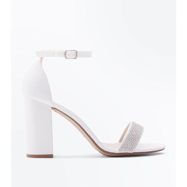 exclusive shoes sold worldwide big selection Wide Fit Off White Satin Diamante Strap Wedding Shoes (53 ...
