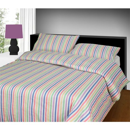 Flannelette Duvet Cover Candy Stripe. Good old fashioned sheets
