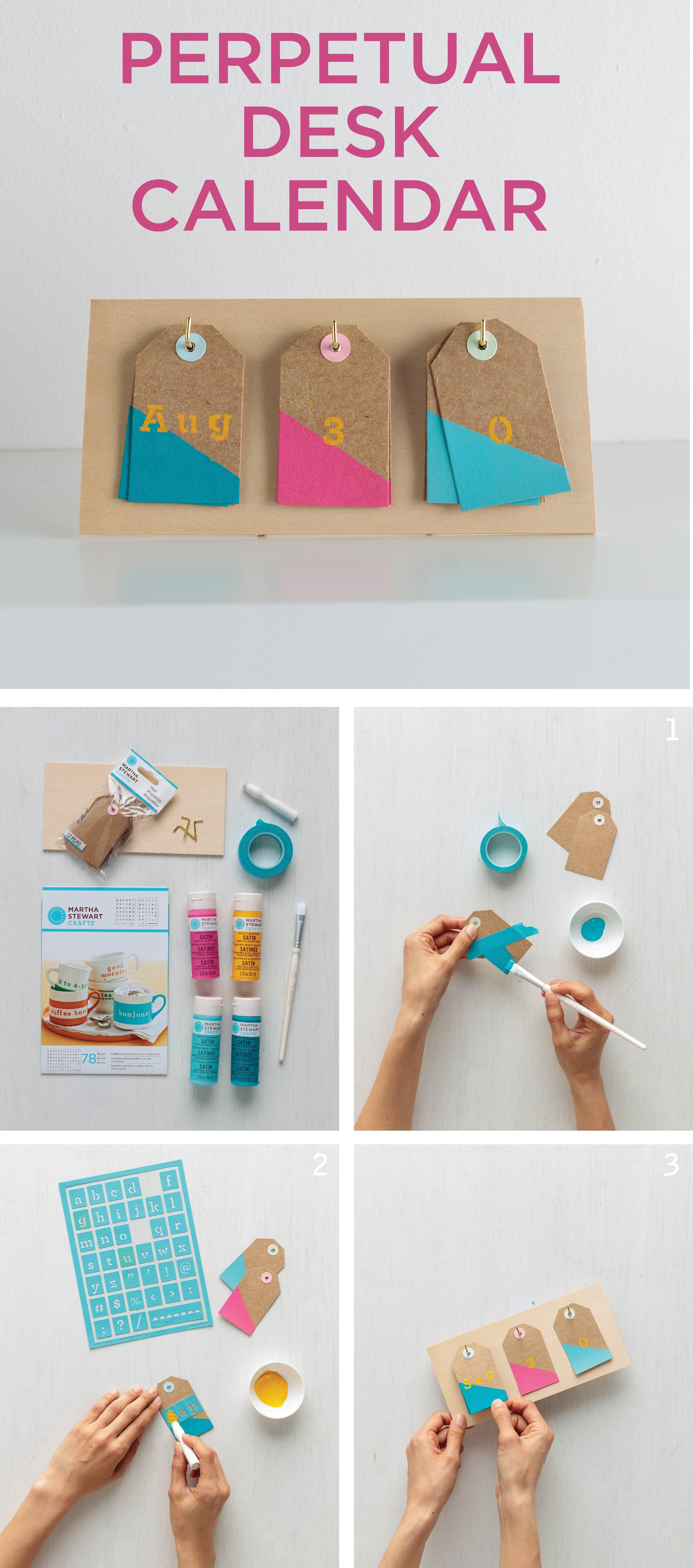 Desk Calendar Design Your Own : Perpetual desk calendar crafts pinterest diy