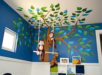 Babyzimmer junge dschungel  Kinderzimmer Kidsroom Baum Affen Dschungel ähnliche tolle Projekte ...