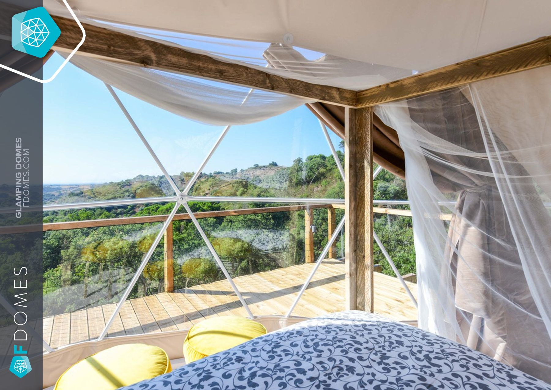 Stunning view from Glamping Geopod in Portugal  #glamping