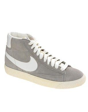 free shipping 5e252 992d2 Nike Blazer Mid Grey Suede Trainers