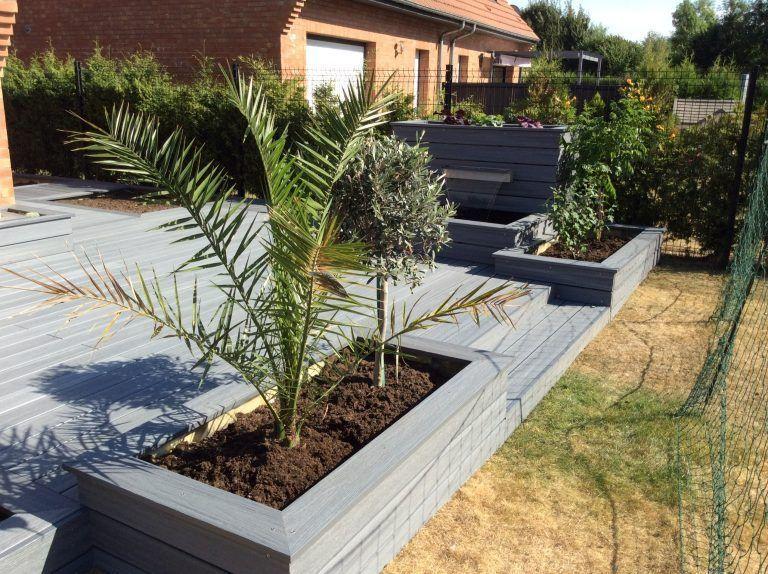 terrasse-bois-composite-07 Bricolage décoration facile Pinterest - terrasse bois avec bassin
