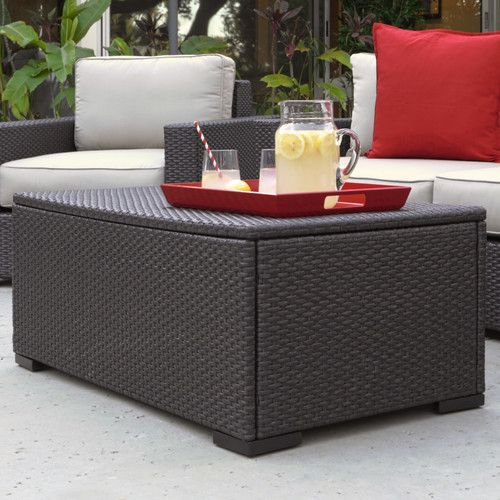 Serta At Home Sterling Falls Outdoor Coffee Table Wicker Coffee Table Coffee Table Outdoor Coffee Tables