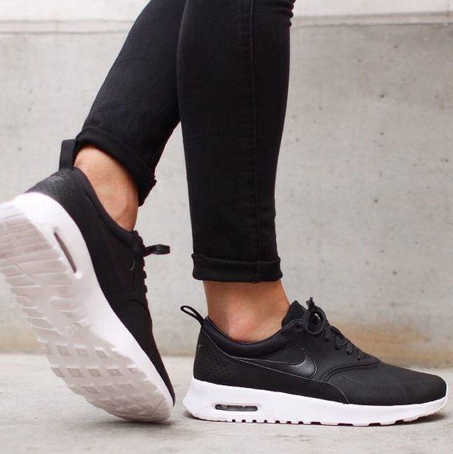 black on black #nike #sneakers   Trend, Kläder, Blå