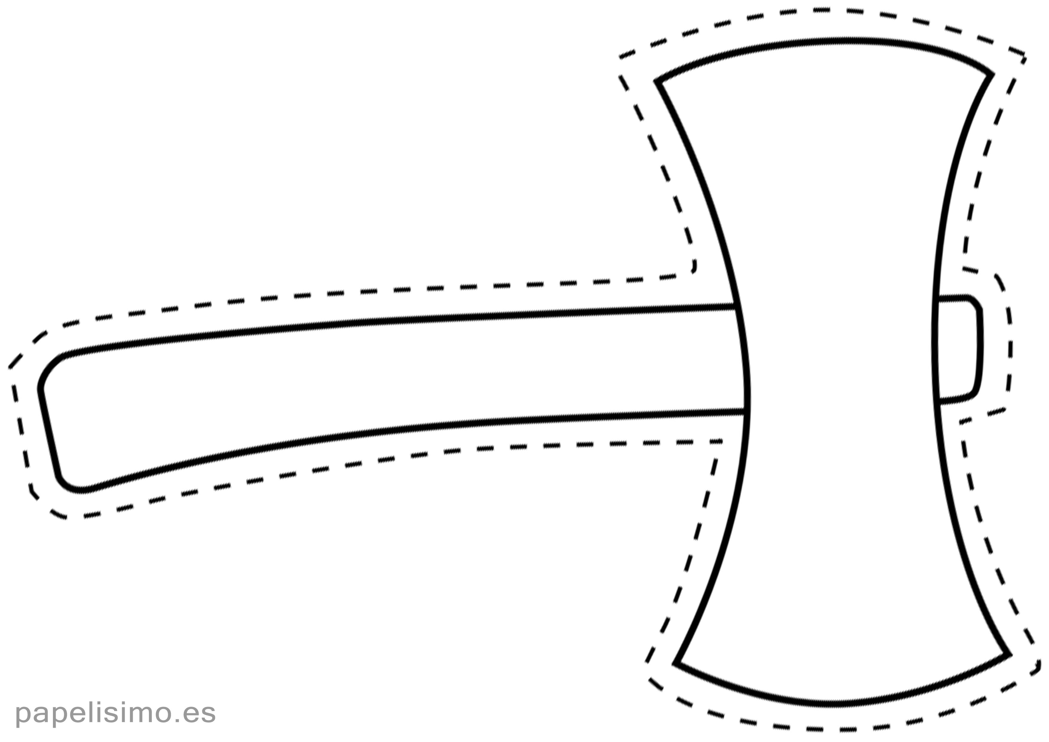 Plantilla Hacha Carton Para Imprimir Disfraces Caseros Casco Vikingo Disfraces Caseros Hacer Cajas De Regalo