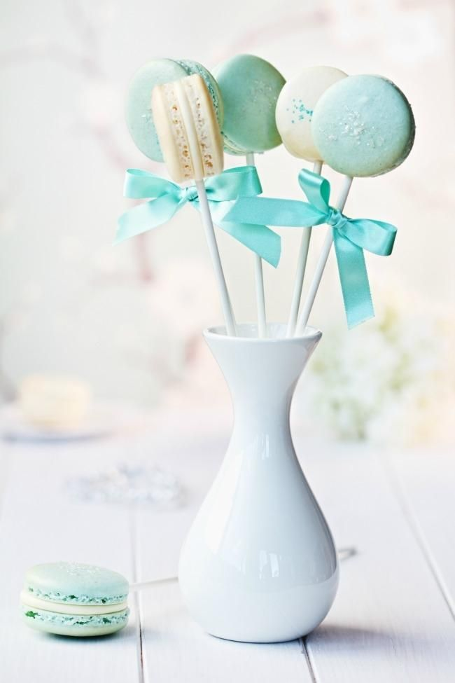 Boy Baby Shower Party Food Ideas Macarons