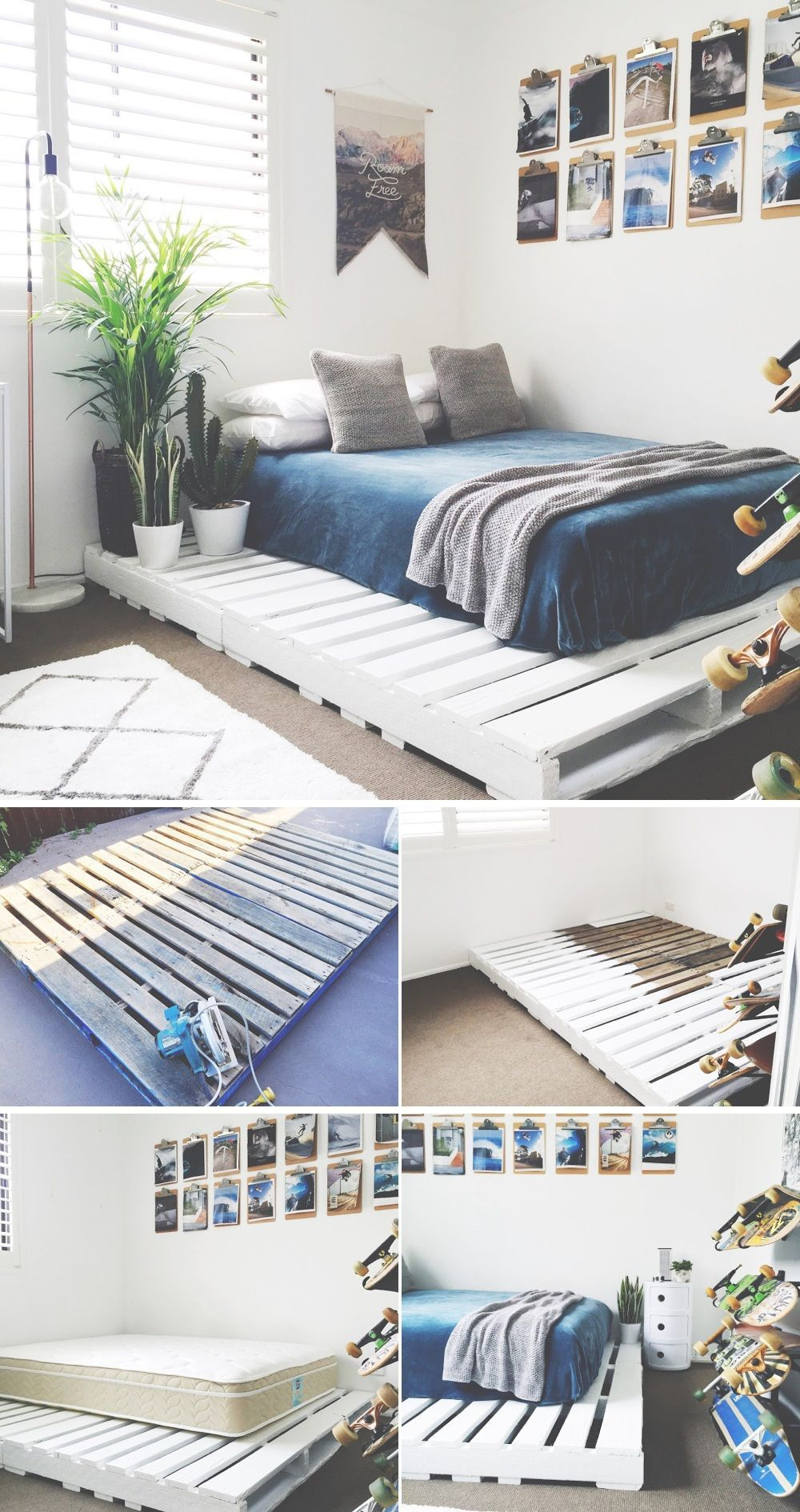 Base de cama reciclada | Decoración de interiores | Pinterest ...