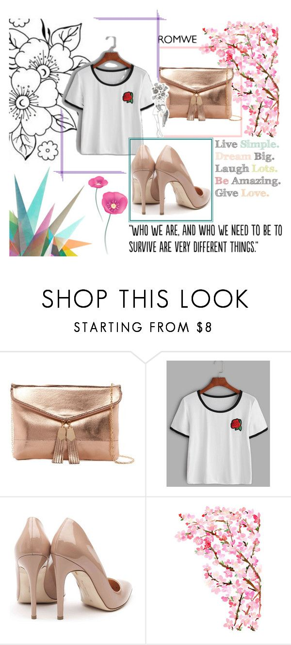 """""""ROMWE contest"""" by sary-i ❤ liked on Polyvore featuring Urban Expressions, Rupert Sanderson, Krystal and Populaire"""