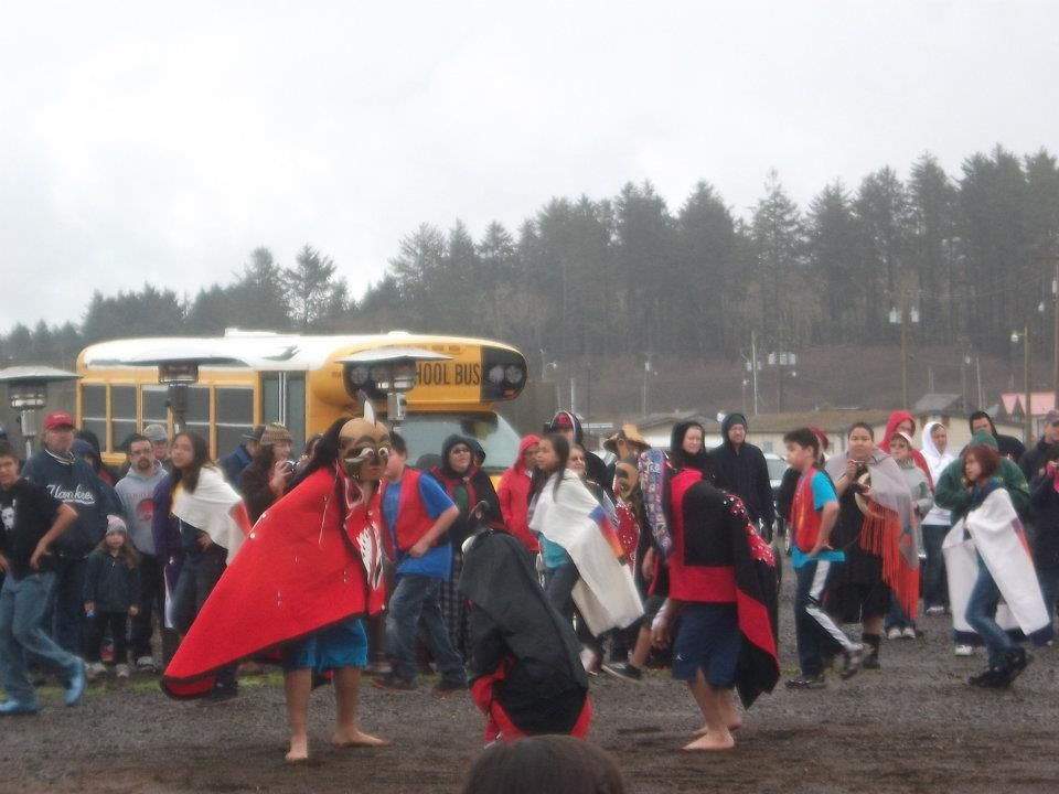 Children dancing at the quileute tribes annual