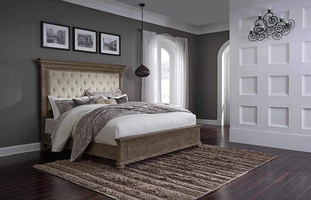 Johnelle 3 Piece King Upholstered Bed in 2019 | Panel bed ... on ashley amazon, ashley warehouse, ashley recliners, ashley sectional, ashley sofa, ashley furniture,