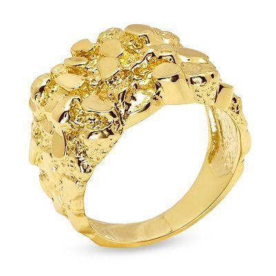 Men S 10k Gold Nugget Ring Save On Select Styles Zales Gold Nugget Ring Local Jewelry Jewelry Stores