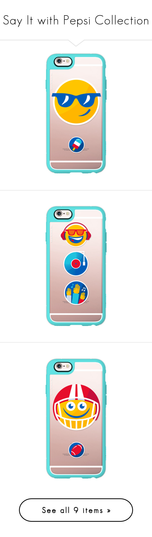 """""""Say It with Pepsi Collection"""" by casetify ❤ liked on Polyvore featuring accessories, tech accessories, iphone case, iphone cover case, apple iphone cases and iphone hard case"""