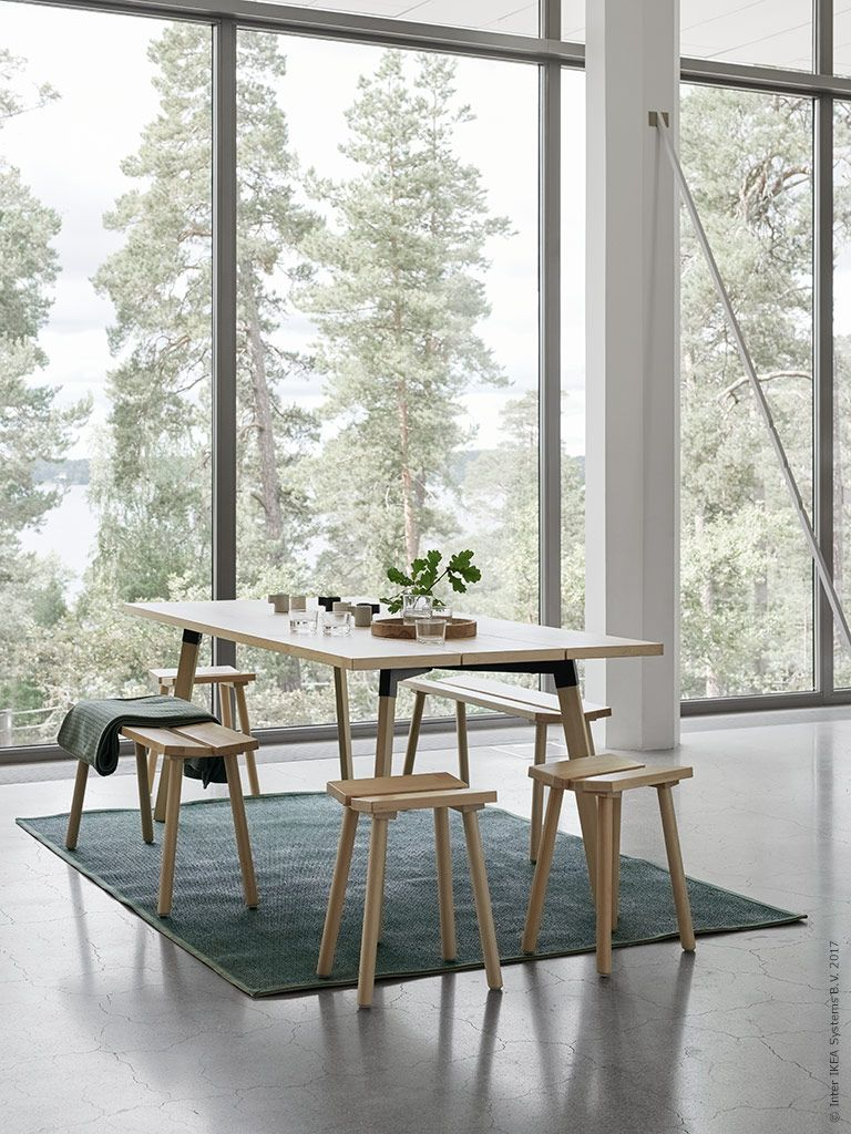 Hay ikea interiors dining and room for Table ypperlig