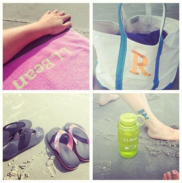 At the beach with #LLBean.  Photo via Instagram @Srivenburgh