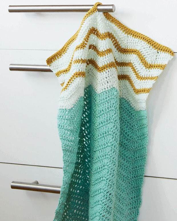 Det er superhyggeligt at hækle noget så ukompliceret som gæstehåndklæder, og så bliver man altså glad, når det, man laver, også har en god funktion.