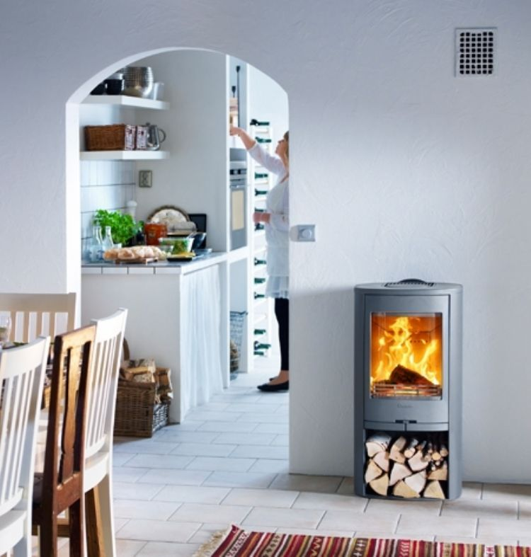 The Basic Model Within The Range With 5kw Ouput And A Great Efficiency Of 82 Wi 5kw B Freestanding Fireplace Wood Burning Logs Home Decor