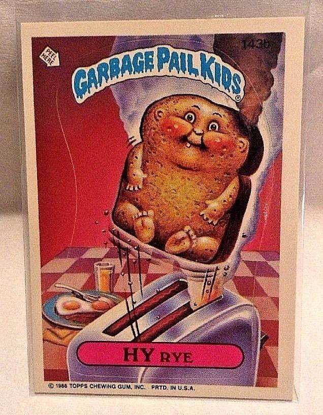 1986 Garbage Pail Kids Hy Rye 143b Os4 Original Series 4 Gpk Topps Topps Garbage Pail Kids Garbage Pail Kids Cards Pail