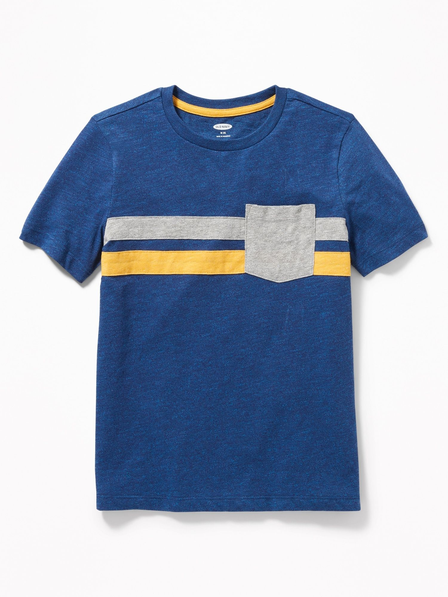 Color Blocked Chest Stripe Pocket Tee For Boys Old Navy Boys T Shirts Old Navy Boys