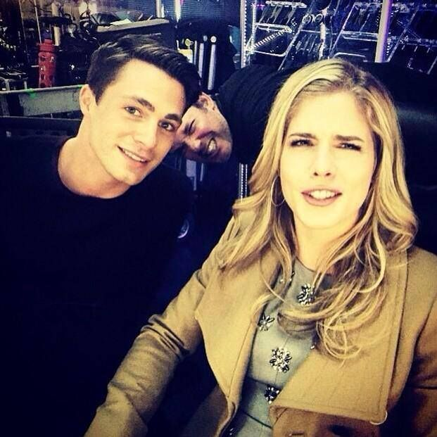 Arrow - Foundry Friday - Colton Haynes, Stephen Amell & Emily Bett Rickards