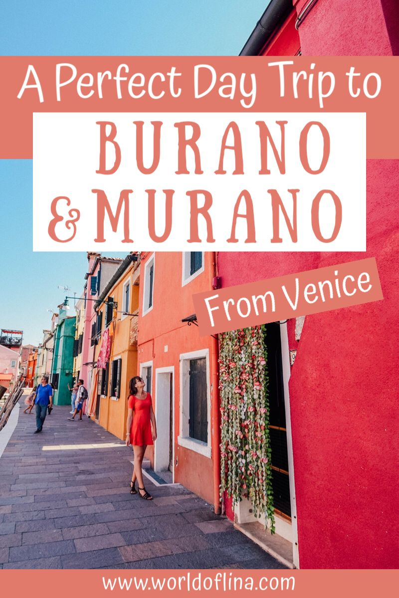 If you are in Venice and have enough time, don't forget to plan a day trip to Burano and Murano - two gorgeous islands with a lot of charm! #burano #murano #venice #italy #europe | Visit Burano and Murano | Day Trips From Venice | Burano Travel Guide