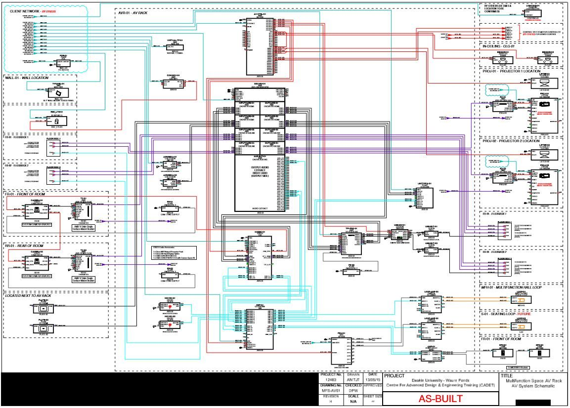 Av System Schematic Multifunction Space Portfolio Audio Visual Lcd Projector Controller Circuit Diagram Control