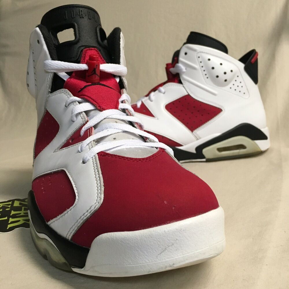 check out a5ffd 17d35 Air Jordan Retro 6 Carmine size 12 White Red Varsity Black Infrared Maroon  UNC