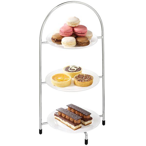 Utopia Chrome 3 Tier Cake Plate Stand 15.5inch / 39cm with 17cm Plates | Cake Stands Cupcake Stand - Buy at drinkstuff  sc 1 st  Pinterest & Utopia Chrome 3 Tier Cake Plate Stand 15.5inch / 39cm with 17cm ...