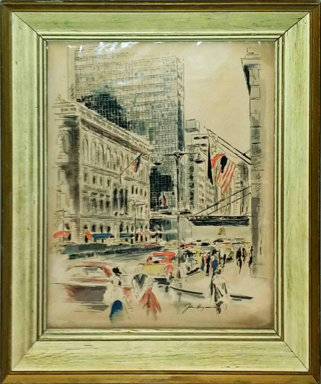 John Haymson Lever House New York City Original Watercolor Print ...