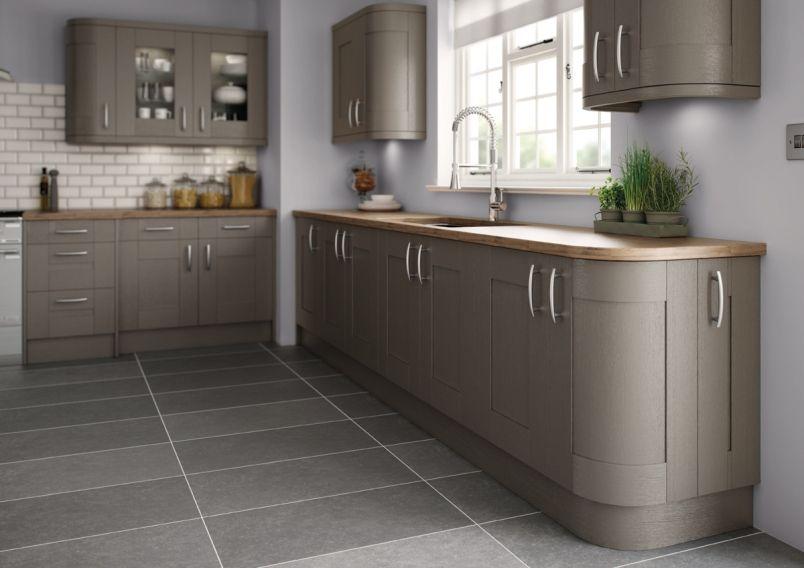 Painted Kitchen Dark Grey | Green kitchen cabinets ...