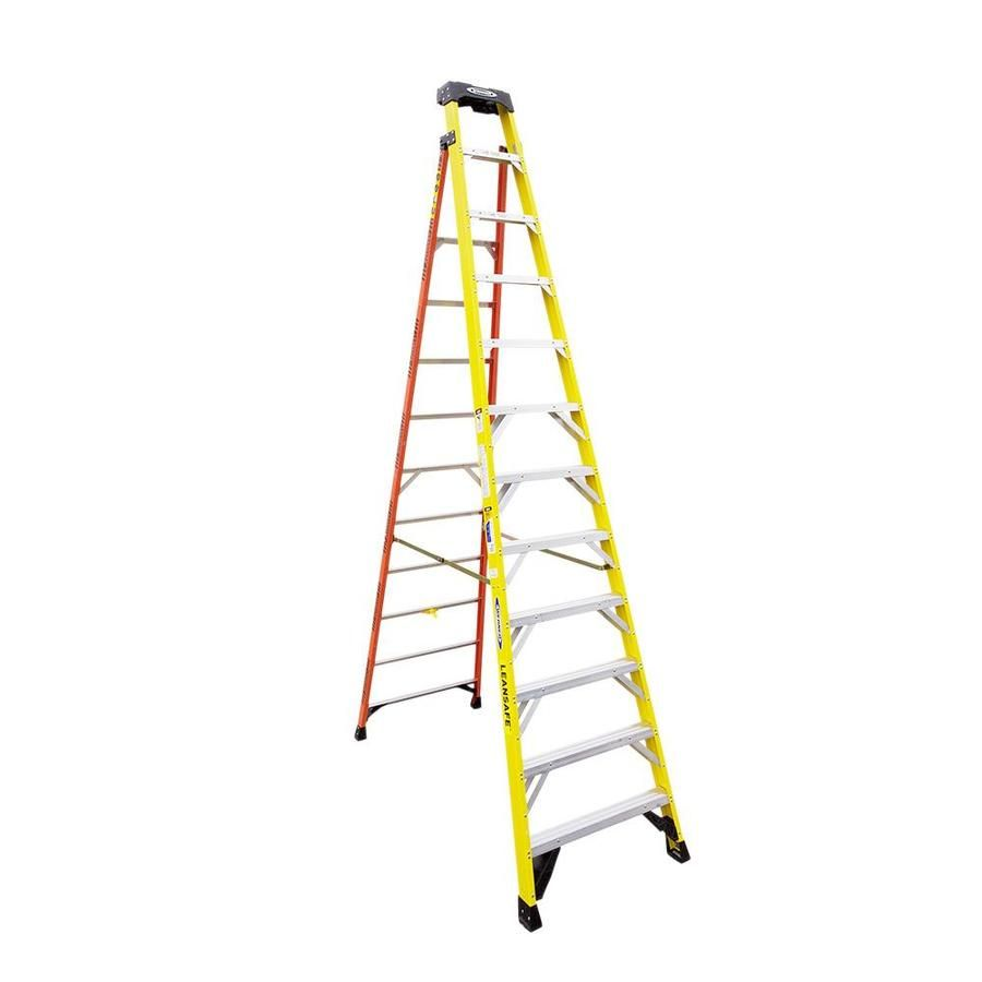 Werner L7300 12 Ft Fiberglass Type 1aa 375 Lbs Capacity Step Ladder L7312 In 2020 Ladder