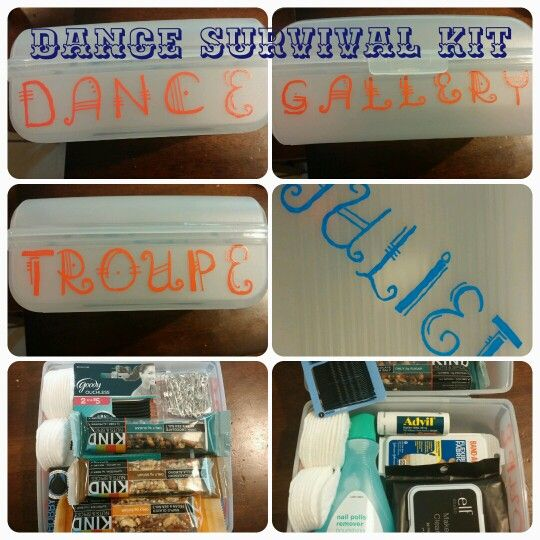 Dance Survival Kit | Things I will do one day | Pinterest
