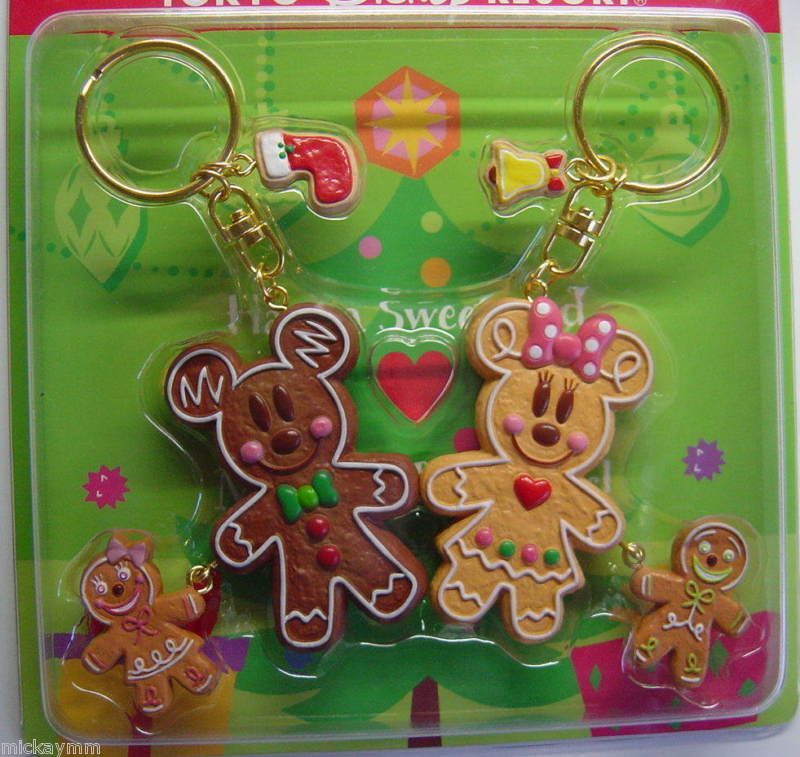 Mickey And Minnie Gingerbread Keychains