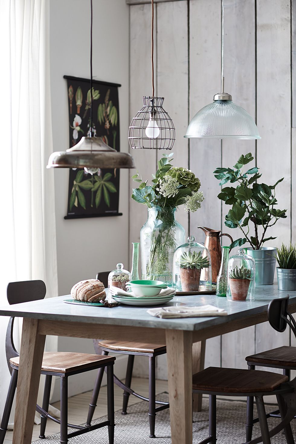 Interior Decorating Kitchen: Accessorise With Laboratory-style Bell Jars And Vintage
