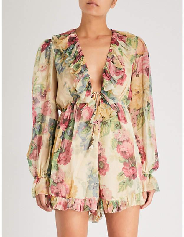 b24873a2f1 Zimmermann Melody floral-print silk-georgette playsuit