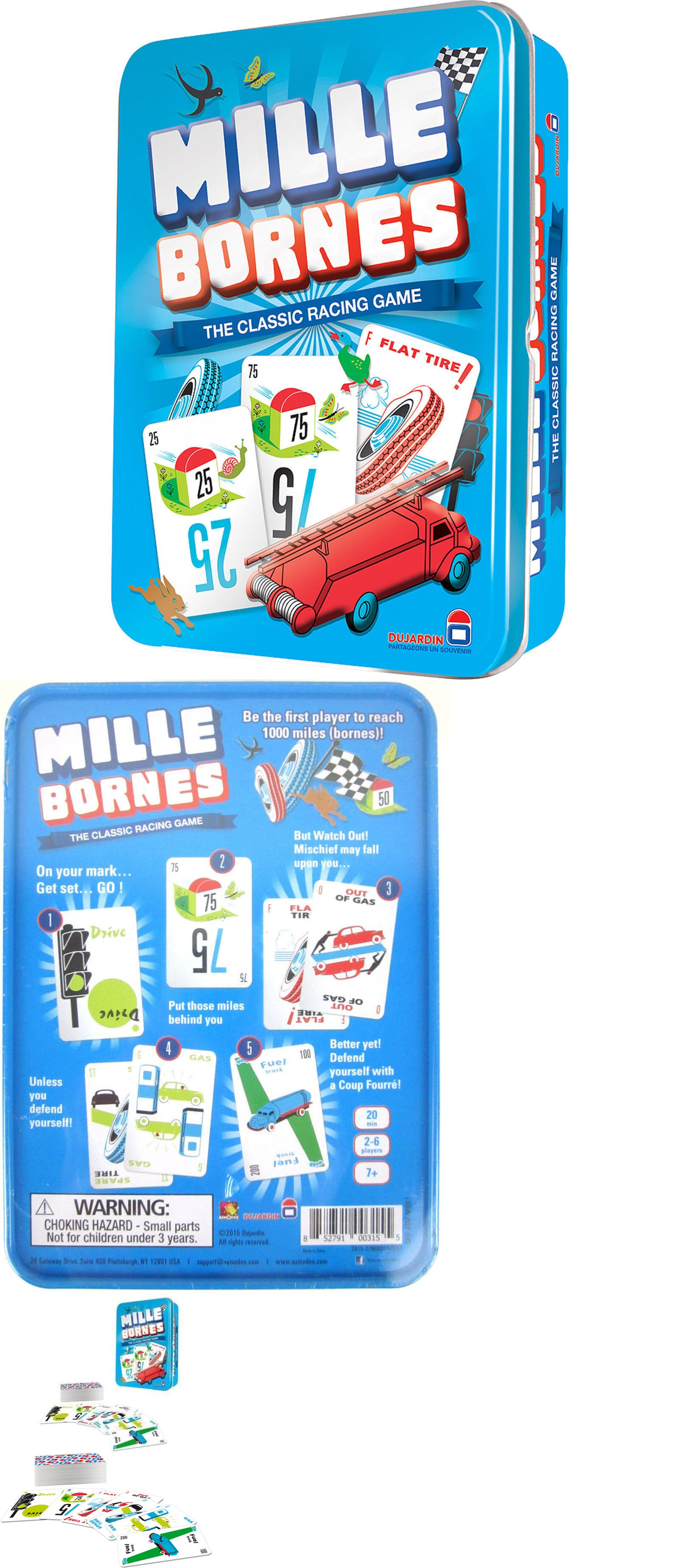 Card Games Vintage 146004 Mille Bornes Card Game Classic French