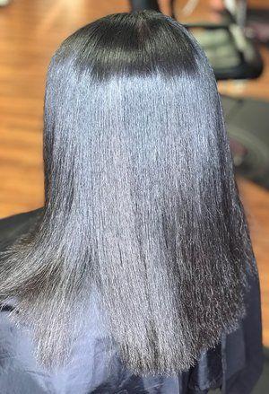 Silk Press | Long hair styles, Hair styles, Hair
