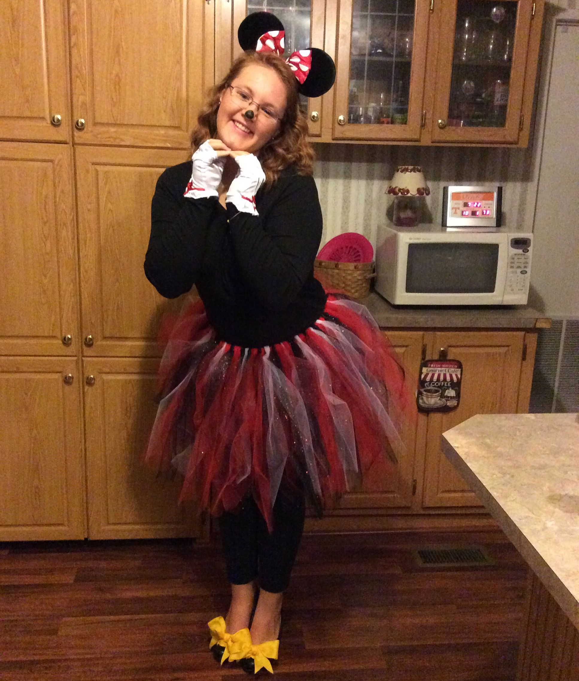 Spirit Week Minnie Mouse Fashion Tulle Skirt Spirit Week