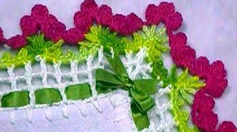 Barrado flor copo de leite em crochê - CROCHÊ 20 - YouTube