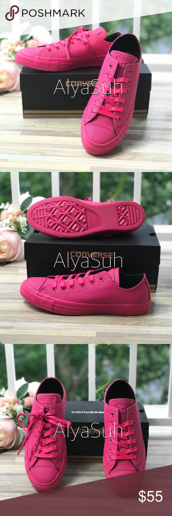 40b8895b7d1fcf NWT Converse Ctas OX Vivid Pink WMNS AUTHENTIC Brand new with box. Price is