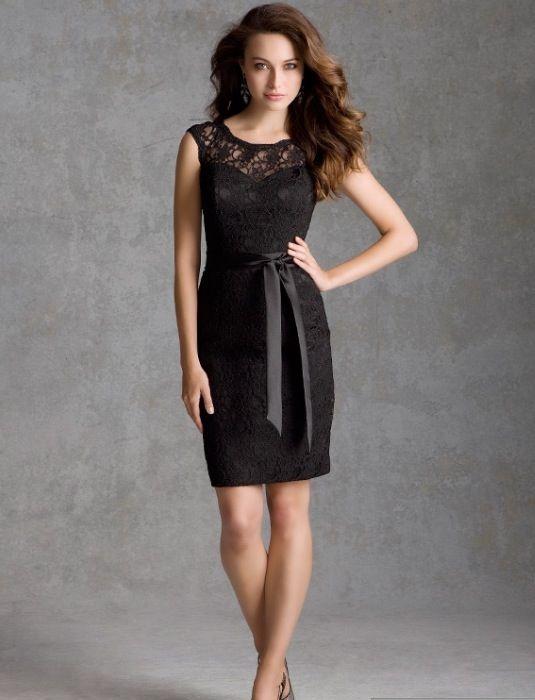 Black lace bridesmaid dress | Wedding ideas | Pinterest | Lace ...