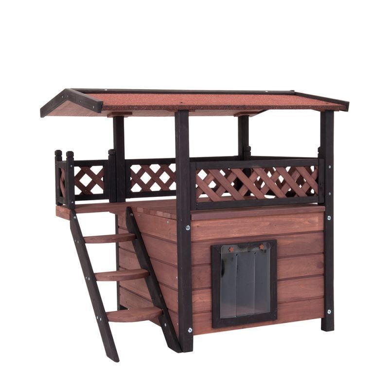 Best Details About Wood Cat House Outdoor Hideout Weather Proof 400 x 300