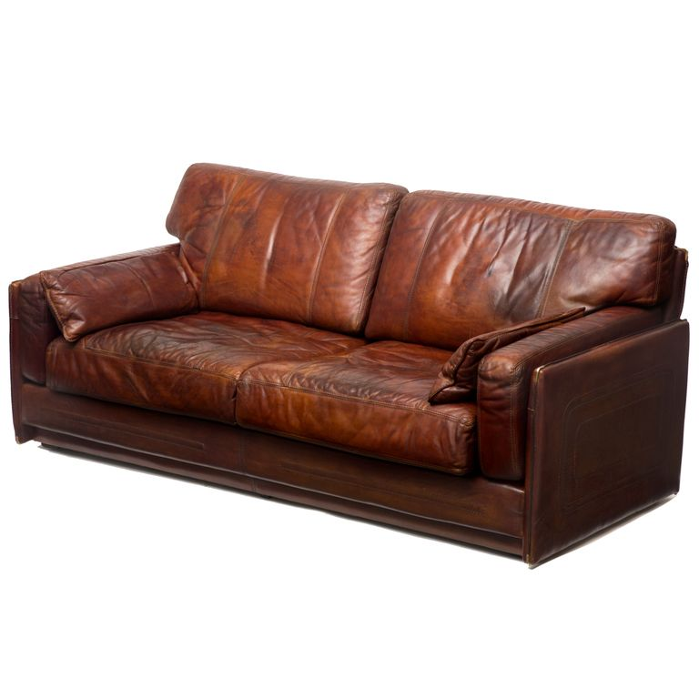 mario bellini buffalo leather sofa
