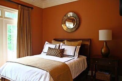 ديكورات لجميع درجات اللون البرتقالي اورانج في دهانات الحوائط والجدران تناسب غرف النوم Orange Bedroom Walls Soothing Bedroom Colors Bedroom Orange