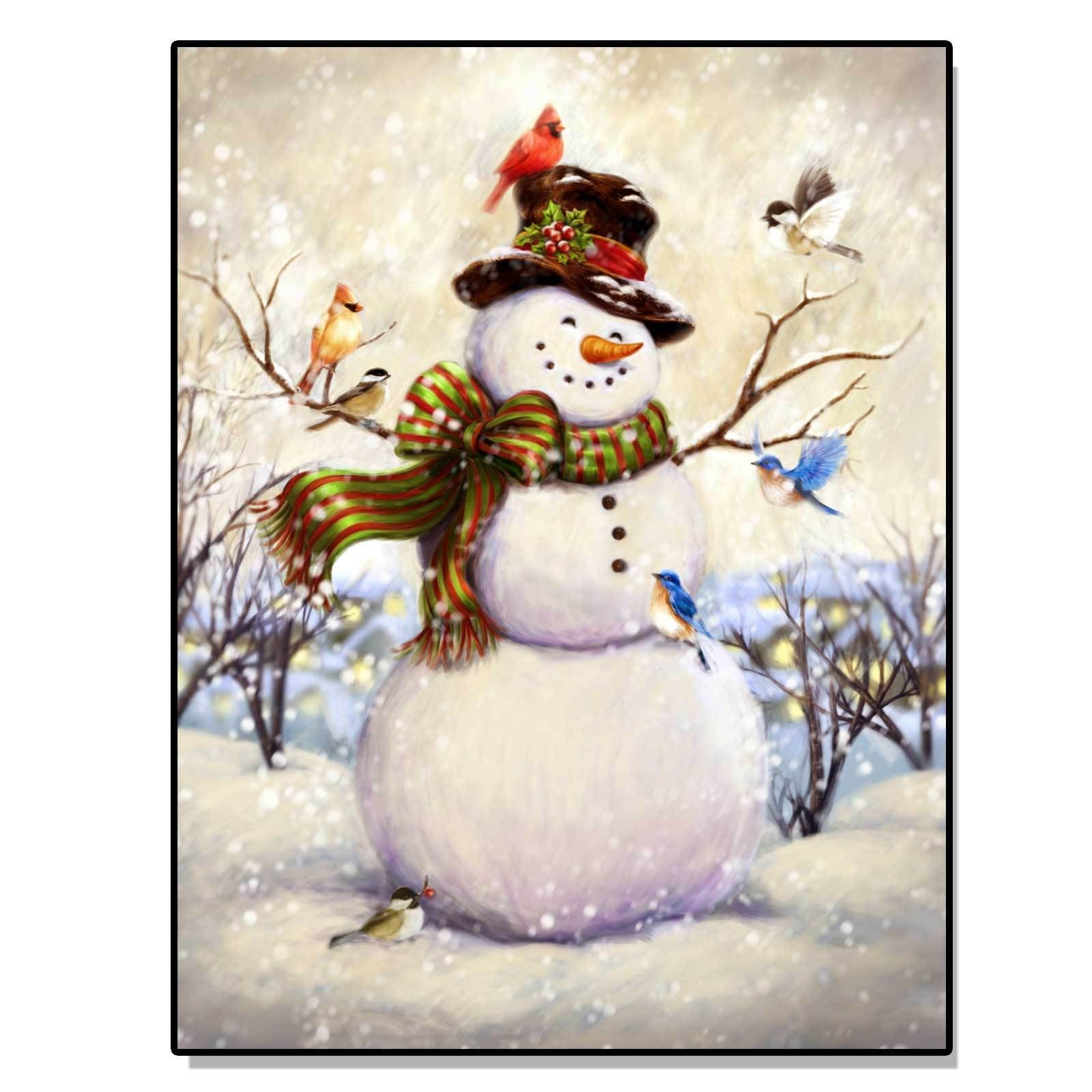 Overstock Com Online Shopping Bedding Furniture Electronics Jewelry Clothing More Lighted Canvas Art Christmas Canvas Snowman Painting